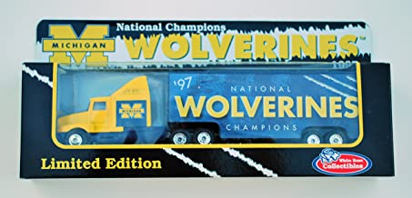 Matchbox UNIVERSITY OF MICHIGAN WOLVERINES '97 NATIONAL CHAMPIONSHIP Tractor Trailer Truck in 1:87 Scale Diecast