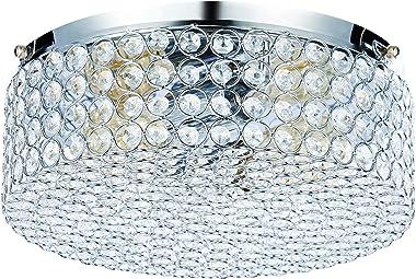 CO-Z Modern Crystal Ceiling Light Fixture, Flush Mount Ceiling Lights for Hallway Dining Bedroom Kitchen Bathroom, 120W Dimma