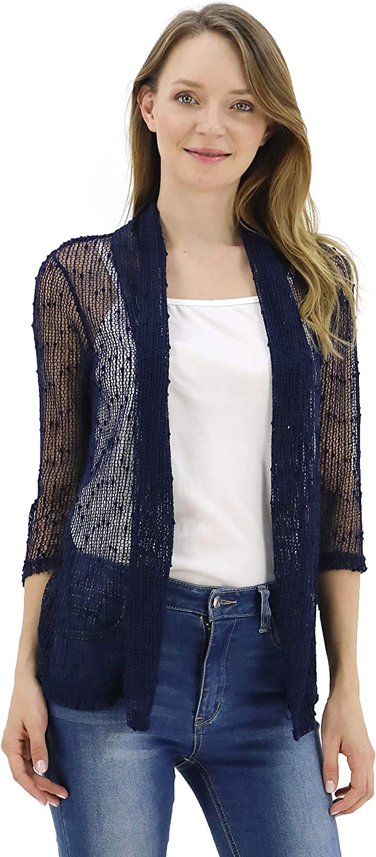 BENANCY Women's 3 4 Sleeve Crochet Shrug Translated Short Mesh Lightweight Sales