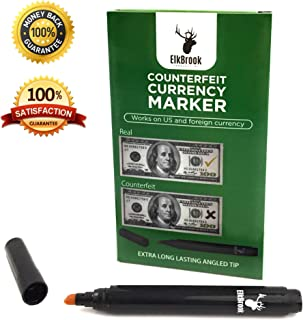 Counterfeit Currency Marker | Counterfeit Pen | Counterfeit Money Marker Pen for U.S. Currency (12-Count) | Counterfeit Bill Detector | Money Pen | Fake Cash Checker |