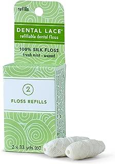 Dental Floss, Dental Lace Refillable Floss, Silk Floss Refills 66 Yds