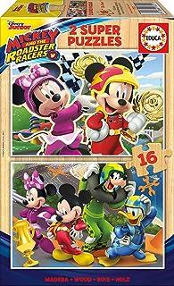 Educa- Disney Mickey Top Départ 2 Puzzles de 16 pièces, 17622
