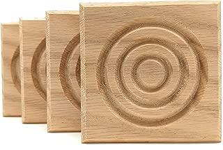 Set of 4: Modern Bullseye Rosette Blocks, Made in USA (2.5