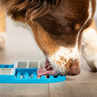 Hyper Pet Lickimat Slomo - Slow Feeder Dog Licking Mat & Boredom Buster (Perfect to Serve Your Dogs and Cats Healthy Treats)