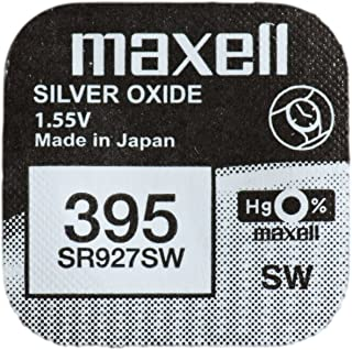 One (1) X Maxell 395 SR927SW SB-AP Silver Oxide Watch Battery 1.55v Blister Packed
