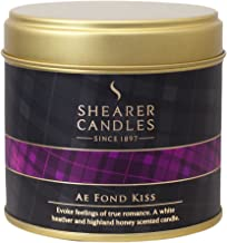 Shearer Candles Ae Fond Kiss Large Scented Tartan Tin Candle - Ivory
