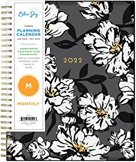 """Blue Sky 2022 Monthly Planner, January 2022 - December 2022, 8"""" x 10"""", Flexible Cover, Wirebound, Baccara Dark (110216-22) photo"""