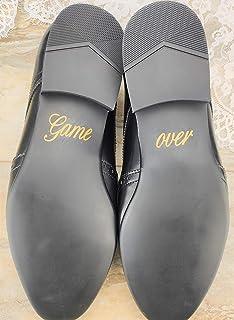"""Schuhsticker""""Game over"""" - 13 Farben wählbar - Hochzeit Schuhaufkleber Farbe wählbar - Aufkleber für Schuhe"""