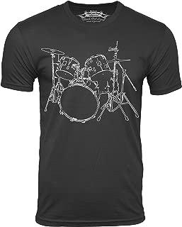 Drums T-Shirt Artistic Design Drummer Tee