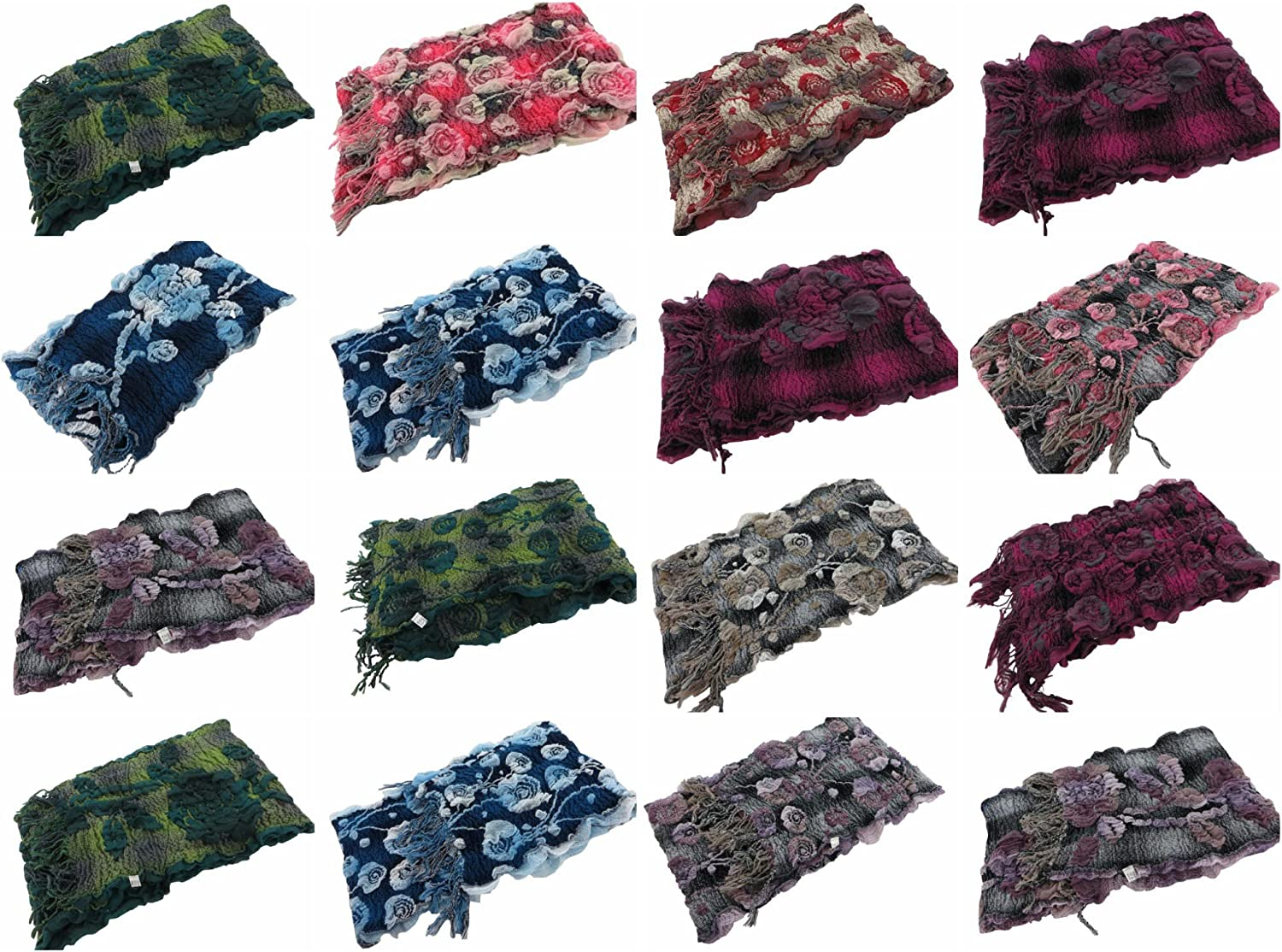 10 scarves wholesale boho floral winter thick warm