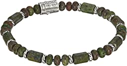 Classic Chain Bead Bracelet with Dragon Blood Jasper