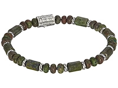 John Hardy Classic Chain Bead Bracelet with Dragon Blood Jasper (Silver) Bracelet