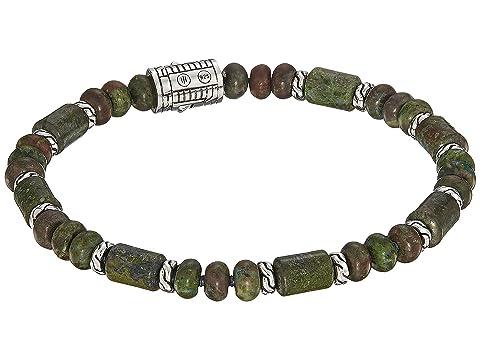 John Hardy Classic Chain Bead Bracelet with Dragon Blood Jasper