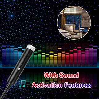 USB Star Light Sound Activated Projector, 4 Lighting Effects, Aevdor Auto Roof Romantic Star Lights, USB Night Light for Bedroom, Car, Party, Ceiling and More- Plug and Play (Violet Blue))