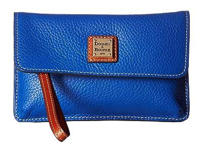 Dooney & Bourke Pebble Milly Wristlet (French Blue/Tan Trim) Wristlet Handbags