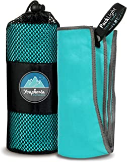 Youphoria Outdoors Microfiber Travel Towel - Ideal Fast Drying Towels for Camping, Travel, Beach, Backpacking, Gym, Sports...