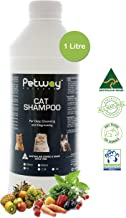 Cat Shampoo   Cat Dandruff Shampoo for Deep Cleansing & Degreasing with Fruit & Vegetable Extracts, pH Balanced Shampoo, Plant Derived Surfactant, Free DEA Phosphates, Parabens & Enzymes 1 LITRE White