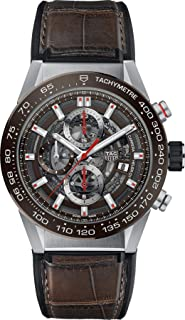 Carrera Brown Skeleton Dial Automatic Mens Chronograph Watch CAR201U.FC6405