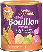 Marigold Swiss Vegetable Vegan Bouillon Powder Reduced Salt 150 g