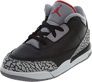 Jordan Retro 3 OG Black/Cement Black/Fire Red-Cement Grey (Toddler) (10 M US Toddler)