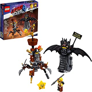 LEGO THE LEGO MOVIE 2 Battle-Ready Batman and MetalBeard 70836 Building Kit, Superhero and Pirate Mech Toy, 2019 (168 Pieces)