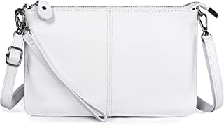 Befen Women's Leather Wristlet Mini Crossbody Bag, Small Crossbody Clutch Purse with Card Slots