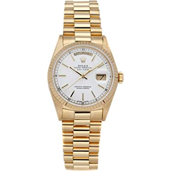 Rolex Day-Date Mechanical (Automatic) White Dial Mens Watch 18038 (Pre-Owned)