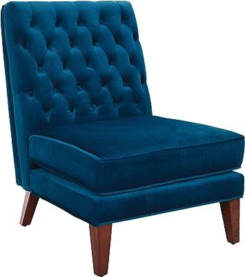 OSP Home Furnishings Brampton Accent Chair, Deep Blue