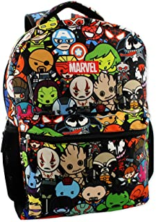 Kawaii Avengers Boys Girls 16 School Backpack (One Size, Black/Multi)