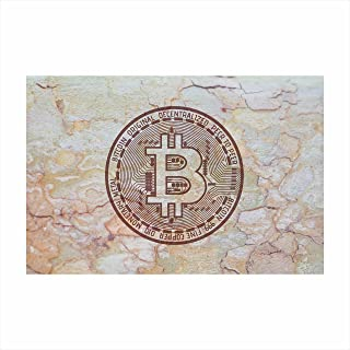Parshva Bitcoin Logo Abstract Colors Canvas Wall Art Paintings for Living Room | Bedroom | Office Decor (12x18, TR428)