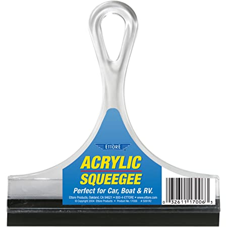 Ettore 17006 Acrylic Squeegee, 6-inch,Clear
