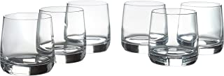 Stone & Beam Traditional Old Fashioned Drinking Glass, 13-Ounce, Set of 6