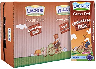 Lacnor Essentials Chocolate Milk - Pack of 32 Pieces (32 x 180 ml)