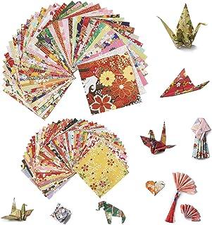 Papel Origami, Comius Sharp 80 Hojas 2 Tamaño Sola Cara Papel de Colores Para Proyectos de Artes Bricolaje y Oficios