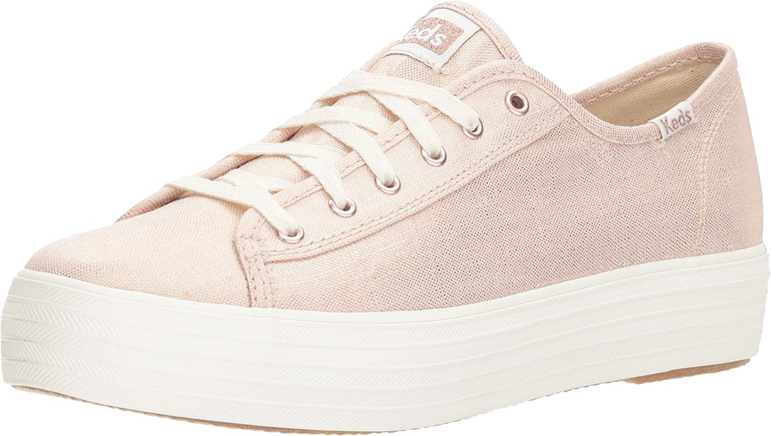 Keds Women's Triple Kick Metallic Linen Sneakers