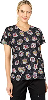 Women's Printed V-Neck Top