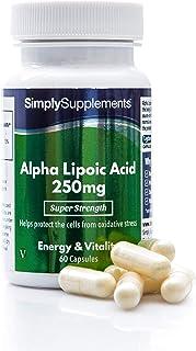 Ácido Alfa Lipoico 250mg - ¡Bote para 2 meses! - Apto para veganos - 60 Cápsulas - SimplySupplements