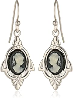1928 Jewelry Embellish Vintage-Inspired Cameo Drop Earrings