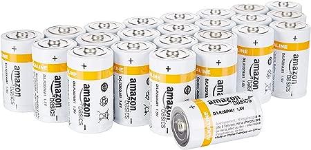 AmazonBasics D Cell 1.5 Volt Everyday Alkaline Battery - 24-Pack