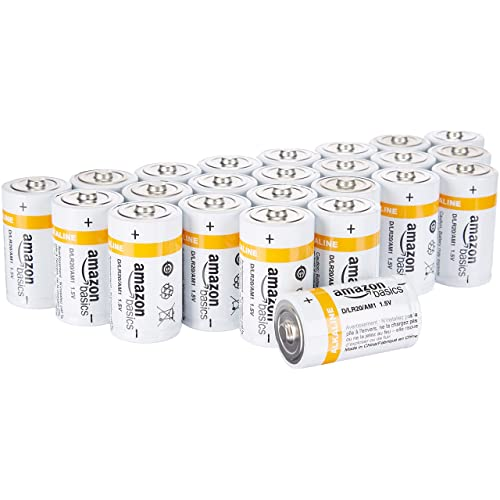 AmazonBasics – Pilas alcalinas D de uso diario (Pack de 24uds)