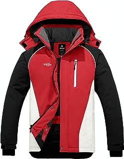 Wantdo Men's Fully Taped Seam Waterproof Ski Jacket Winter Coat Snowboard Raincoat