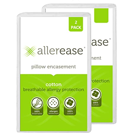 Anti-Allergy 100/% Cotton Zip Pillow Protector Pack of 10 Fully Encased 74x48cm