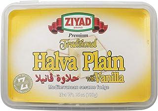 Ziyad Traditional Mediterranean Sesame Fudge Halva, Vanilla, 100% All-Natural, Additives No Preservatives, 25 oz