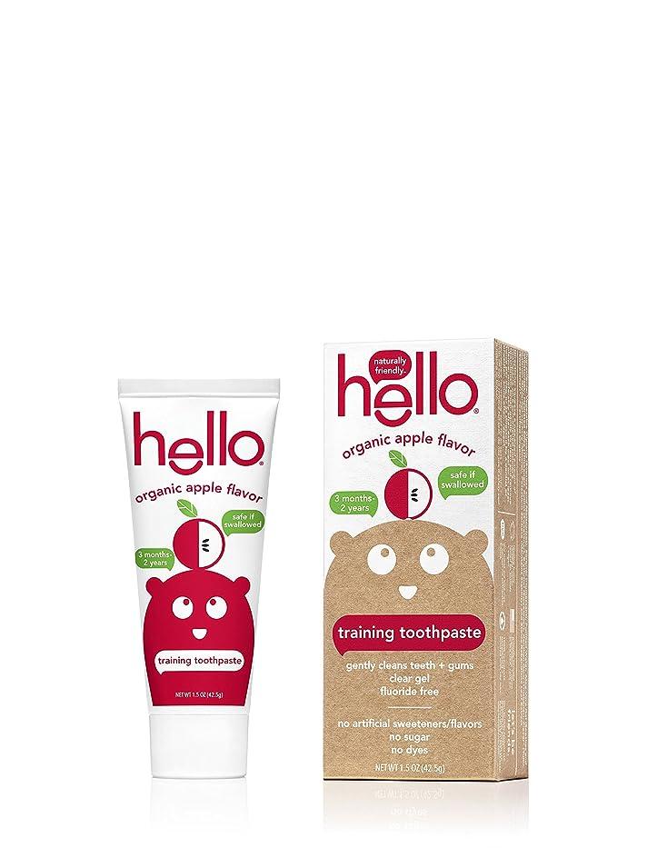 アンデス山脈キルト野心Hello Oral Care フッ化物無料幼児教育の歯磨き粉、オーガニックアップル、1.5オンス