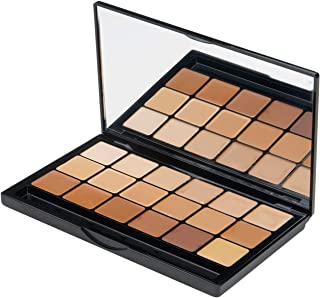 Graftobian Creme Foundation Warm Super Palette High Definition Makeup Kit - 18 Warm HD Full Coverage Pigment Concealers fo...