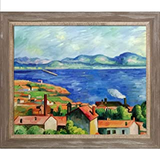 """La Pastiche The Gulf of Marseilles Framed Oil Painting, 29"""" x 25"""", Multi"""