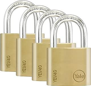 Yale Locks YALYE1404PK 40 mm Brass Finish Padlock (Pack of 4)