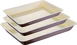 Marr/ón 25.3x25.3x8 cm Bergner Bake Cream Molde para Horno con Forma Redonda Acero