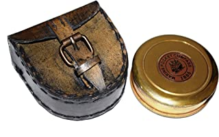 Marine Pocket Compass 1920 Robert Frost Poem Engraved Compass with Leather case, Unique Vintage Gift for All Occasion.Camping Compass, Gift Compass, Graduation Day Gifts, Husband, Father