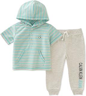 Calvin Klein - Juego de Pantalones con Capucha para bebé (2 Piezas)